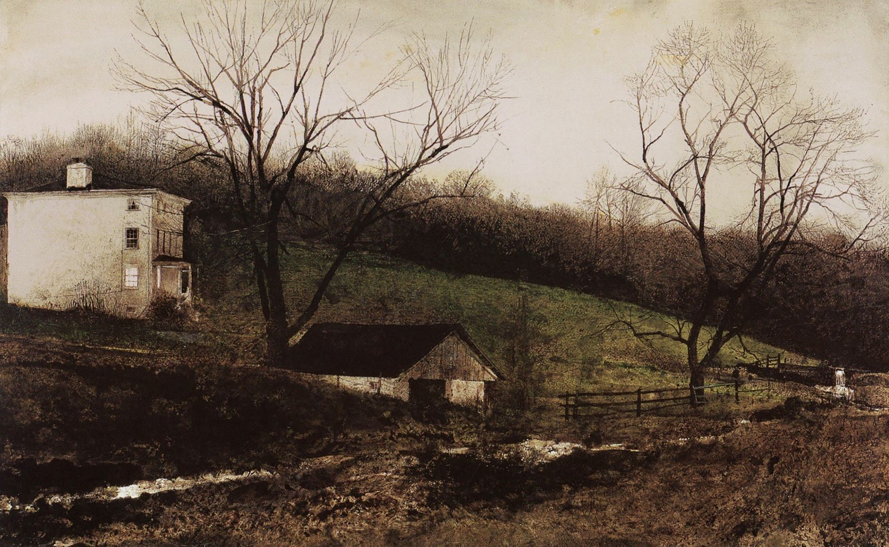 Andrew Wyeth, Evening at Kuerners