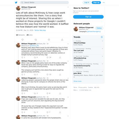William Fitzgerald on Twitter