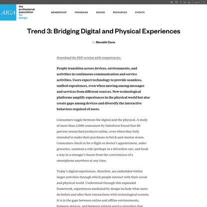 Bridging digital and physical experiences