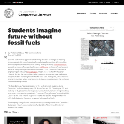 Students imagine future without fossil fuels
