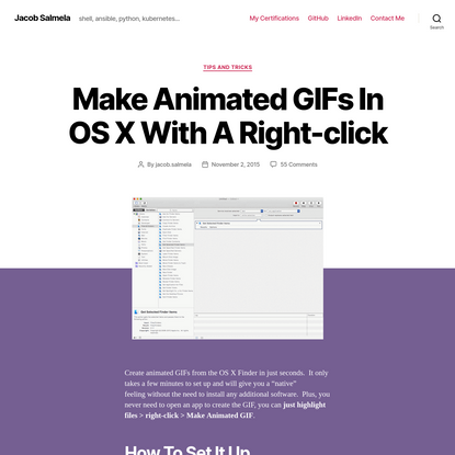 Make Animated GIFs In OS X With A Right-click