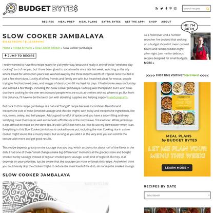 Slow Cooker Jambalaya - Budget Bytes