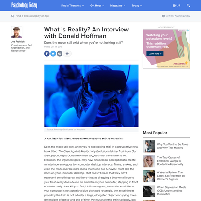 What is Reality? An Interview with Donald Hoffman