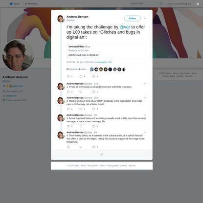 Andrew Benson on Twitter