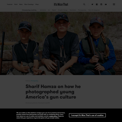 Sharif Hamza on how he photographed young America's gun culture
