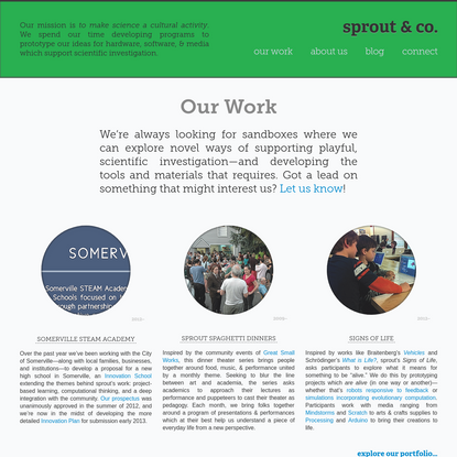 sprout & co :: making science a cultural activity since 2008
