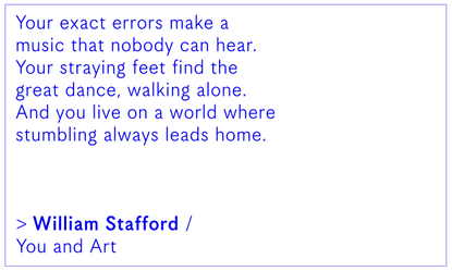 William Stafford / You and Art