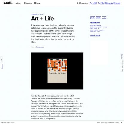 Art + Life