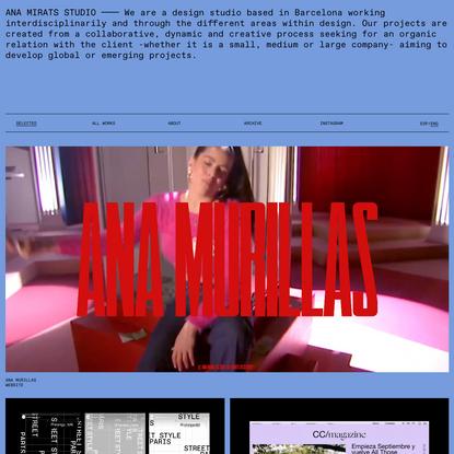 ANA MIRATS STUDIO