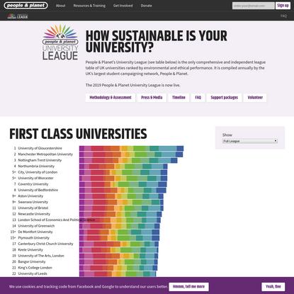 People & Planet University League