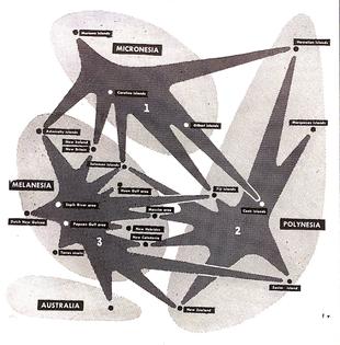 Distribution of Basic Trends in Oceanic Art