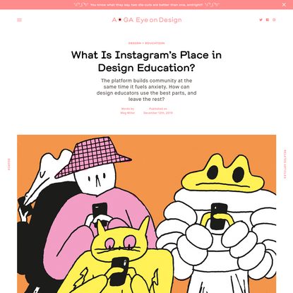 What Is Instagram's Place in Design Education?