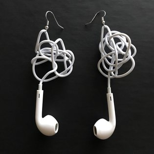 May be a wireless moment, but here's to embracing the chaotic, tethered spiral of a tangled headphone past - inspired by thi...