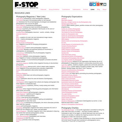 Links - F-Stop Magazine - A fine art photography magazine featuring contemporary photography from established and emerging photographers