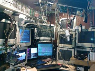 studio, plugged in