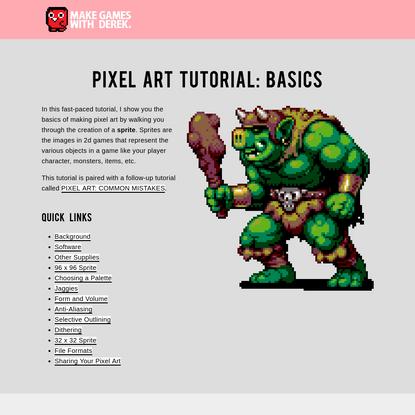 PIXEL ART TUTORIAL: BASICS