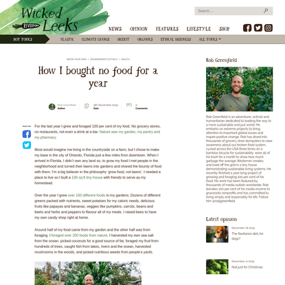 How I bought no food for a year | Wicked Leeks