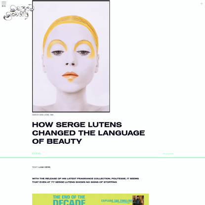 How Serge Lutens changed the language of beauty
