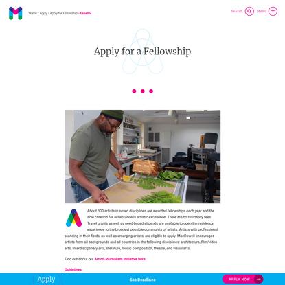 Apply for a Fellowship