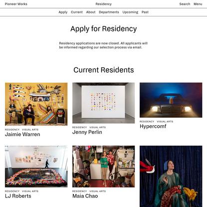 Residency   Pioneer Works