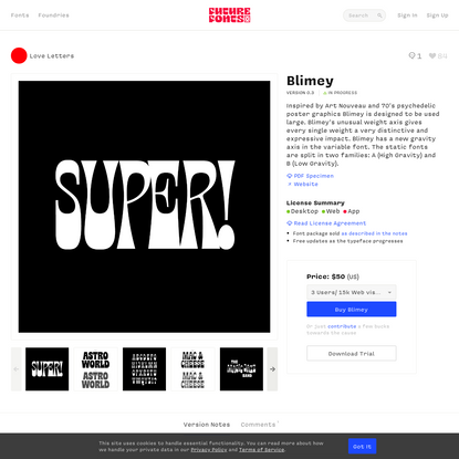 Blimey by Love Letters - Future Fonts