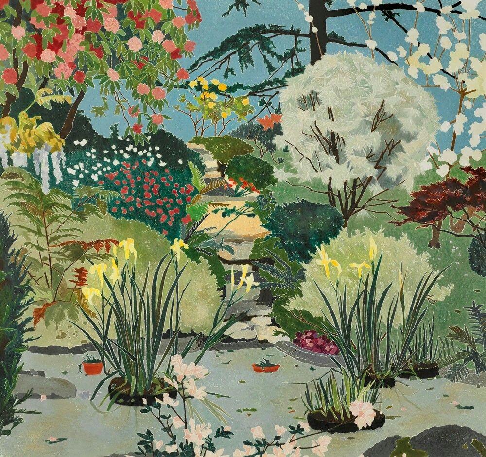 Cressida Campbell, Milton Park, 1989, woodblock print on paper