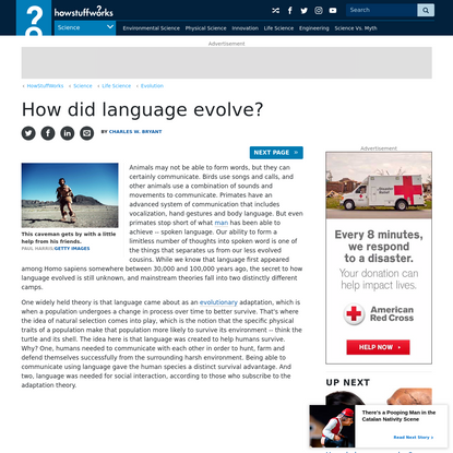How did language evolve?