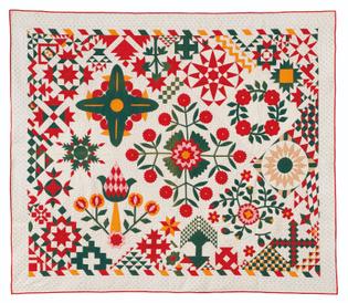 A Floral Applique Quilt