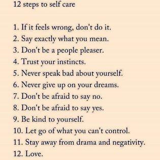 12 steps to self care 🌱 Tag someone below ! Via @thepoweroftantra