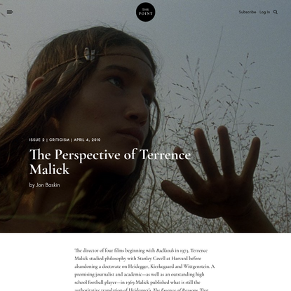 The Perspective of Terrence Malick | The Point Magazine