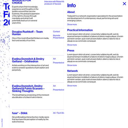 Info - TodaysArt 2019 - Festival for Art, Music & Technology