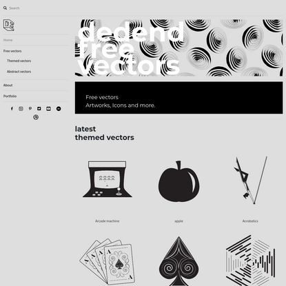 vectors.dedend.com - free illustration library that is growing weekly with bran new fresh design.