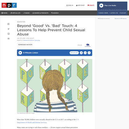 Beyond 'Good' Vs. 'Bad' Touch: 4 Lessons To Help Prevent Child Sexual Abuse