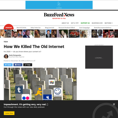 How We Killed The Old Internet
