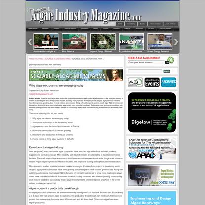 Scalable Algae Microfarms: Part 1 |