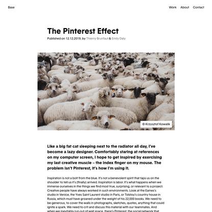 The Pinterest Effect — Base Design