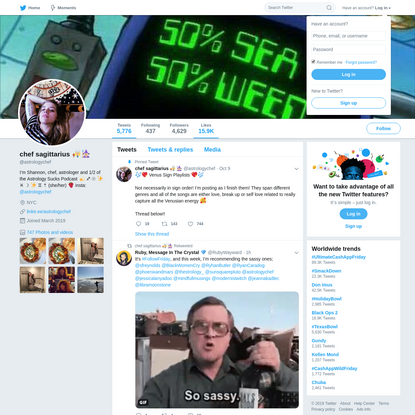 chef sagittarius 👩🏼🍳🧙🏼♀️ (@astrologychef) | Twitter