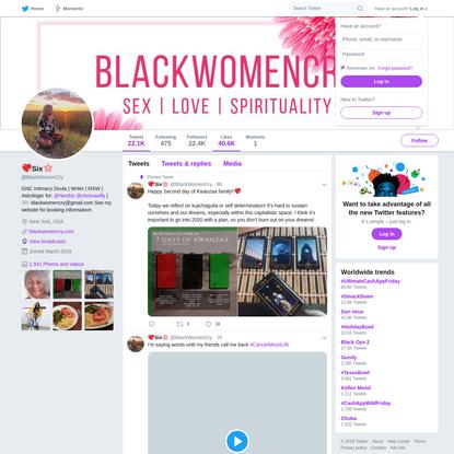 💖Six🌸 (@BlackWomenCry) | Twitter