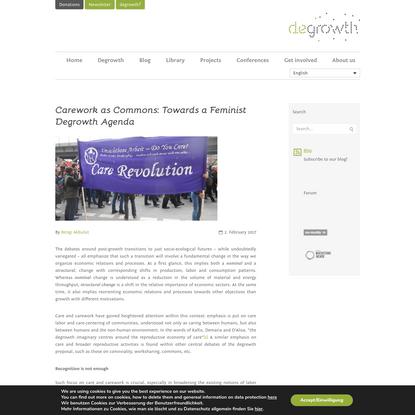 Carework as Commons: Towards a Feminist Degrowth Agenda