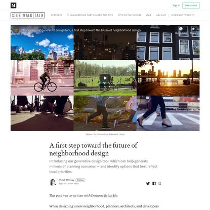 A first step toward the future of neighborhood design