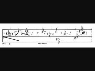 Helmut Lachenmann, Guero (for piano), 1969, with score