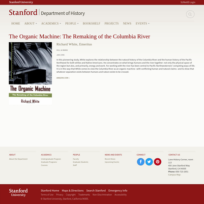 The Organic Machine: The Remaking of the Columbia River