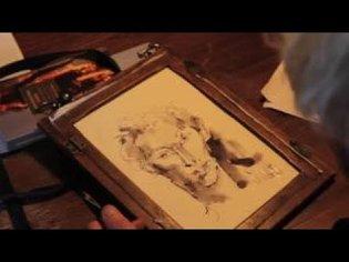 Hung in Time: John Berger draws Tilda Swinton
