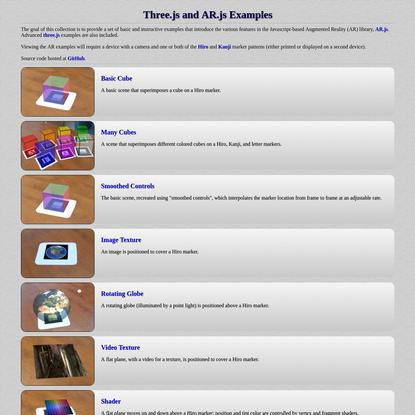 Three.js and AR.js - examples