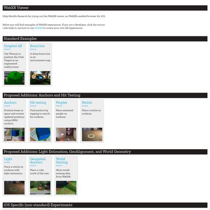 WebXR Viewer