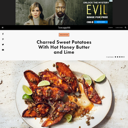 Charred Sweet Potatoes With Hot Honey Butter and Lime Recipe