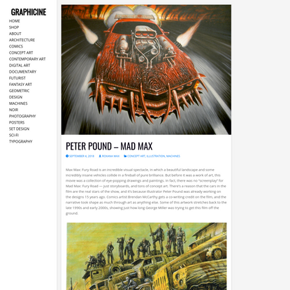 Peter Pound – Mad Max | Graphicine
