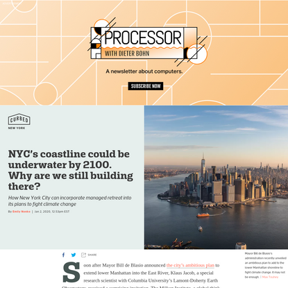 NYC's coastline could be underwater by 2100. Why are we still building there?
