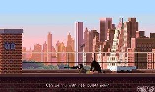 """Can we try with real bullets now?"" #pixelart #8bit #leon #leontheprofessional #fanart #digitalart #gameart #retroart #90s #..."