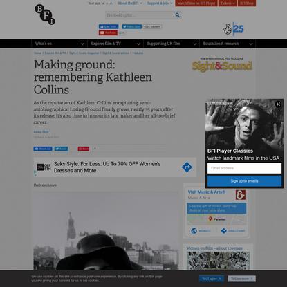 Making ground: Kathleen Collins in focus